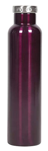 FIFTY/FIFTY Wine Growler Water Bottle, Narrow Mouth, Seven Fifty, 750ml/25 oz, Burgundy