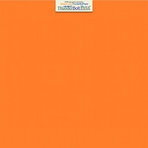 25 Bright Orange Cover/Card Paper Sheets - 12 X 12 Inches Scrapbook Album Cover Size - 65# (65 lb/Pound) Light Weight Cardstock - Quality Printable Smooth Paper Surface for Bright Colorful Results