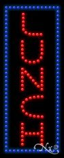 Lunch LED Sign - 27 x 11 x 1 inches - Made in USA
