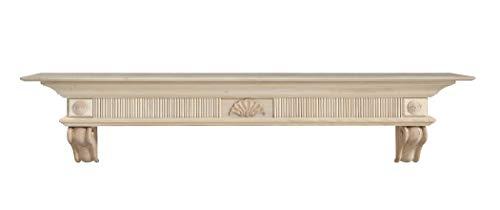 Pearl Mantels 416-72 Devonshire Fireplace Mantel Shelf, 72-Inch, Unfinished
