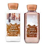 Bath and Body Works Snowflakes & Cashmere Body Care Set. Super Smooth Body Lotion 8 Oz & Shower Gel 10 Oz.