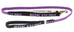 Hot Purple 36 ROK Straps Stretch Leash for Small Dog 1030lbs in Black