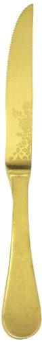 Mepra Casablanca Ice Oro Steak Knife, Gold Matt, Set of 12 (Mepra Steak Knife)