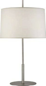 Robert Abbey S2180 Lamps with Fondine Fabric Shades, Stainless Steel Finish ()