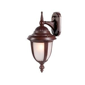 Alico Lighting 3522BW/FR Acclaim Lighting Burled Walnut Finished Outdoor Sconce with Frosted Seeded Glass Shades