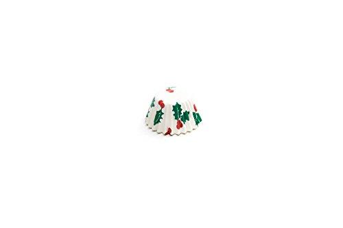 Fox Run 4972 Christmas Disposable Bake Cups, 1.5 x 1.5 x 0.75 inches, White