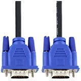 YINGJIE Black Blue VGA 15 Pin Male to Male Plug Computer Monitor Cable 4.92Ft