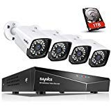 SANNCE 1080P Full HD Security Camera System with 1TB Hard Drive, Four 1920TVL Outdoor CCTV Cameras, Easy PoE Installation, Real Plug & Play Network Video Surveillance System