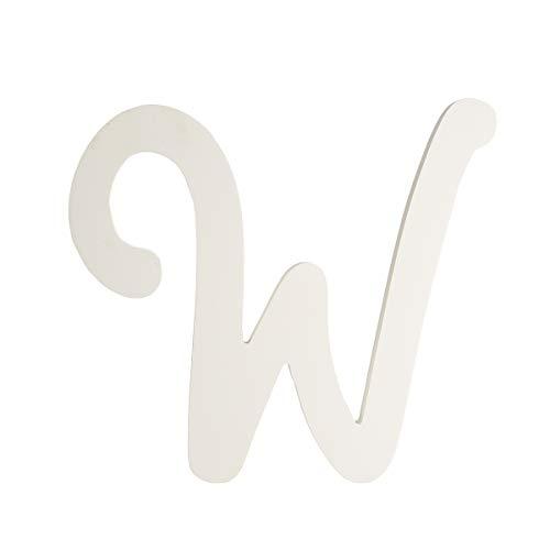 Darice U9188-W 9In White Wood Letter W ()