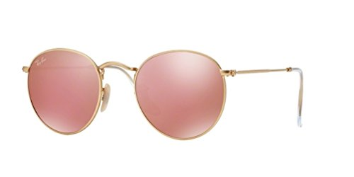 Ray Ban RB3447 Round Metal 112/Z2 Matte Gold Sunglasses - Round 50 Metal Rb3447