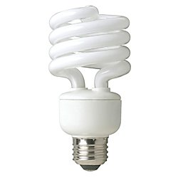 23w Compact Fluorescent Lamp - TCP 8010233 23-Watt SpringLight Compact Fluorescent Spiral Light Bulb, 27K Color Temperature, 3-Pack