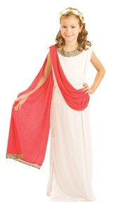 7-9 Years Medium Girl's Roman Goddess Costume