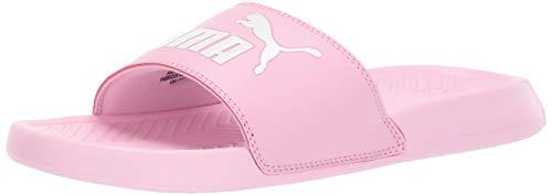 Lightweight Puma Sandals - PUMA Unisex Popcat Slide Sandal, Pale Pink White, 7 M US Big Kid