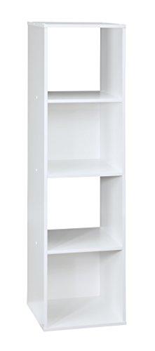 ClosetMaid (1029) Cubeicals Organizer, 4-Cube - White (Closetmaid Closet Organizers)