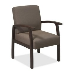 Lorell Guest Chairs, 24 by 25 by 35-1/2-Inch, Espresso/Taupe