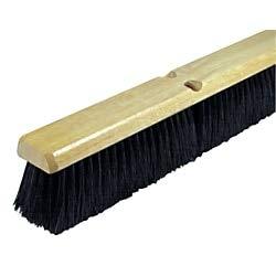 Wilen Black Tampico Push Broom, - Push Tampico Broom Inch 18
