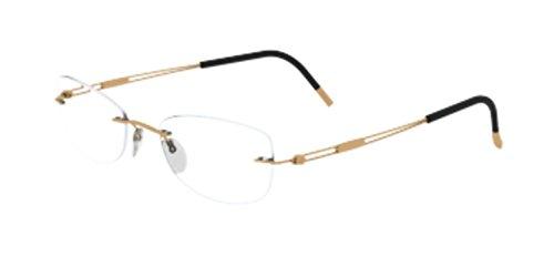 Silhouette Eyeglasses Titan Next Generation 4300 Gold Rush Chassis Optical Frame (Bridge-17 - Silhouettes Glasses