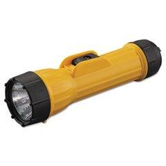 ** Industrial Heavy-Duty Flashlight, 2D (Sold Separately), Yellow/Black