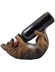 Drinking German Shepherd Dog Wine Bottle Holder Decorative Display Stand Statue Pet Décor Gifts for Dog Owners