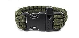 550 Parachute Cord Emergency Military Survival Bracelet Whistle WristbandHW096