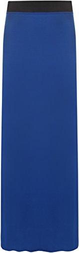 WearAll Maxi-jupe simple et lastique - Jupes - Femmes - Tailles 36  42 Bleu