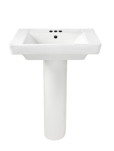 - American Standard 0641.400.020 Boulevard Pedestal 4-Inch Counter, White