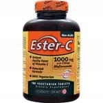 4 Pack of American Health Ester-C with Citrus Bioflavonoids - 1000 mg - 180 Vegetarian Tablets