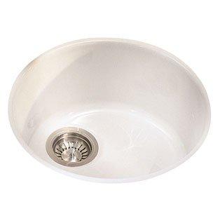 Franke LBK610WH Luna Fireclay Single Bowl Self-Rimming Kitchen Sink, White