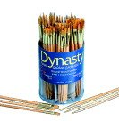 DYNASTY B-400 Golden Synthetic Brushes in Canister canister of 144