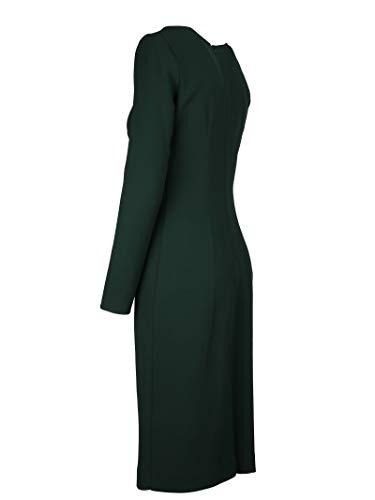 Vestido O A D721390x022 H Mujer R P 51qzqr4wn S Verde Lana pSTHxOwqUq