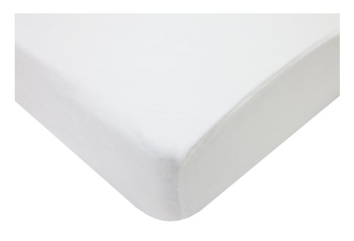 American Baby Company Heavenly Soft Chenille Fitted Crib Sheet for Standard Crib and Toddler Mattresses, White, for Boys and Girls