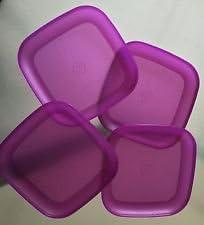 Tupperware Microwave Luncheon Plates Purple
