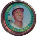1971 Topps Topps Coins (Baseball) card#133 Ollie Brown of the San Diego Padres Grade Very Good