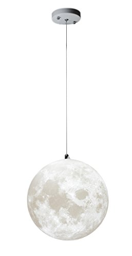 KUNGKEN Lighting Chandelier LED 3D Printing Moon Lamp Warm and Cool Light for Kitchen Restaurant Cafe Hotel Foyer Decoration 10IN