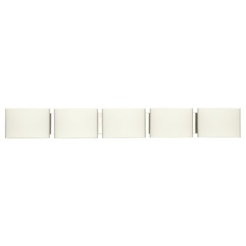 Opal Bathroom Shade - DVI Lighting DVP1760CH-OP Bathroom Vanity with Opal Glass Shades, Chrome Finish by DVI