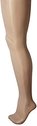 HUE Women's Plus Size So Silky Sheer Control Top Pantyhose (Pack of 3), deep mocha, 4