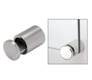 Advertising Sign Standoff Aluminum Chrome Mounts 1//2 x 1 Inch Silver Color Side Clamp Sign Standoff Screws Pack of 4