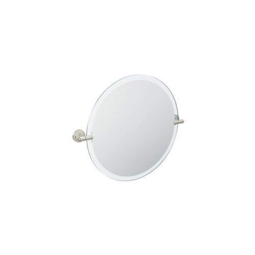 Moen DN0792BN Iso Round Mirror, Brushed Nickel by Moen by Moen