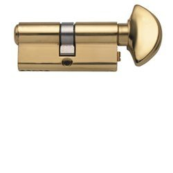 Rockwell 90 Degree Solid Brass Euro Profile Cylinder Lock in Polished Brass Durable hardware door locks, Door (Profile Polished Brass)