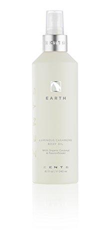 - Zents Luminous Cashmere Body Oil, Soften and Moisturize Skin with Vitamin E and Organic Coconut Oil, 8 fl oz / 240 ml(Earth)
