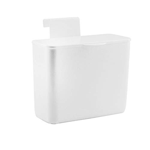 Sacow Hanging Storage Box, Cabinet Door Bathroom Cosmetics Boxes Desk Top Boxes Kitchen Plastic Garbage Bags Boxes with Hook (White) by Sacow