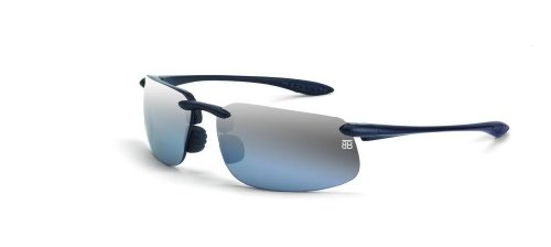 BTB-860 Sport Optic with (Adjustable Nose Piece) Crystal Black Frame and Smoke - Btb Sunglasses