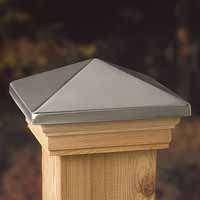 Post Cap 6x6in Cedar Stainless