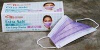 4825360 PT# -5330E-PP PP- Mask Face Fluid Resistant Purple Extra-Safe Earloop LF 50/Bx by, Valumax International -4825360