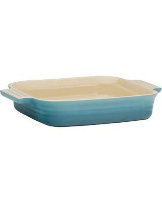 Creuset Poterie Square Stoneware Baking Dish 9.25 Inches Pastel Blue