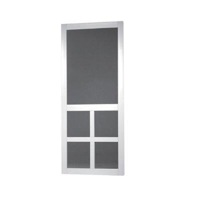 Screen Tight LAF32WS Stile Solid Vinyl Screen Door, White, 32-Inch by 80-Inch Wide