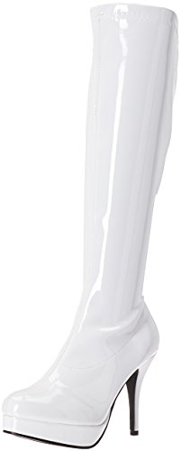 Ellie Shoes Womens 421-groove Engineer Boot White
