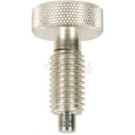 Non-Locking Knurled Retractable Plunger w/Zinc Body Zinc Nose 0.75x4lbs Pressure 3/8-16 Thread(Pack of 5)