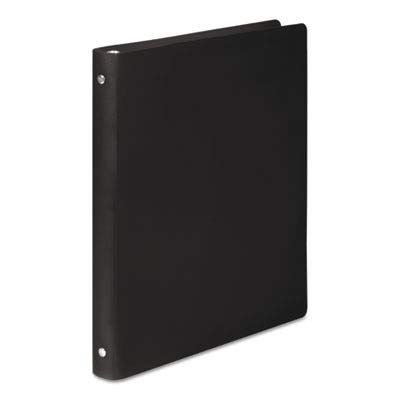 ACCO Products - ACCO - ACCOHIDE Poly Ring Binder With 23-Pt. Cover, 1/2amp;quot; Capacity, Black - Sold As 1 Each - ACCOHIDE poly covers are durable. - For frequent use; won't rip, crack or tear. - Matte finish for professional appearance.
