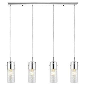 Trestle Hanging Light, Chrome (Light Diamond Crystal Wall)
